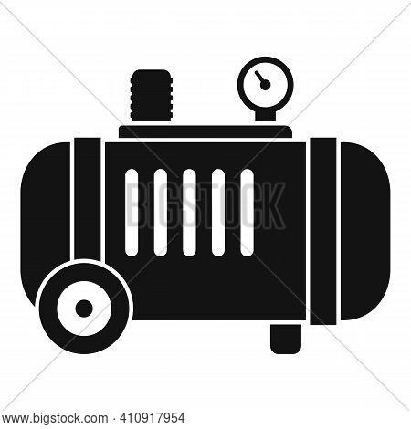 Industrial Air Compressor Icon. Simple Illustration Of Industrial Air Compressor Vector Icon For Web
