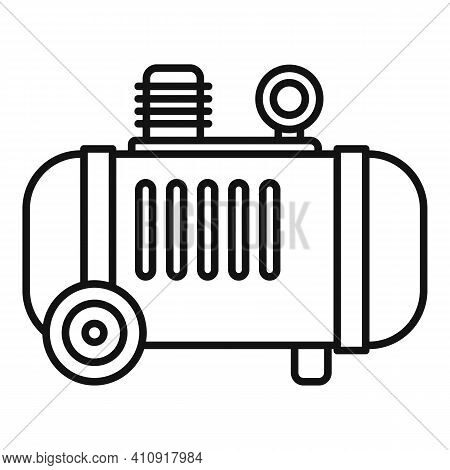 Air Compressor Icon. Outline Air Compressor Vector Icon For Web Design Isolated On White Background