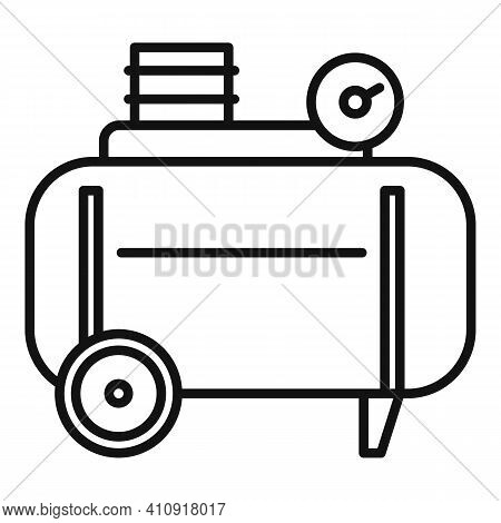 Stapler Air Compressor Icon. Outline Stapler Air Compressor Vector Icon For Web Design Isolated On W