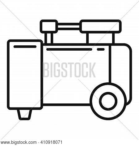 Equipment Air Compressor Icon. Outline Equipment Air Compressor Vector Icon For Web Design Isolated