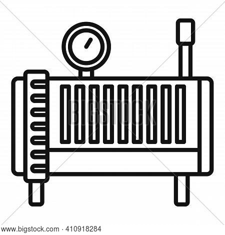 Electric Air Compressor Icon. Outline Electric Air Compressor Vector Icon For Web Design Isolated On