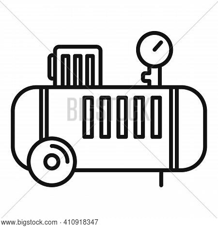 Pump Air Compressor Icon. Outline Pump Air Compressor Vector Icon For Web Design Isolated On White B