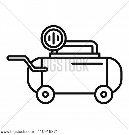 Tool Air Compressor Icon. Outline Tool Air Compressor Vector Icon For Web Design Isolated On White B