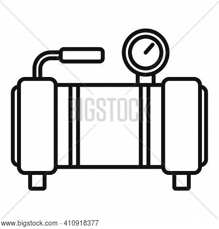 Stand Air Compressor Icon. Outline Stand Air Compressor Vector Icon For Web Design Isolated On White