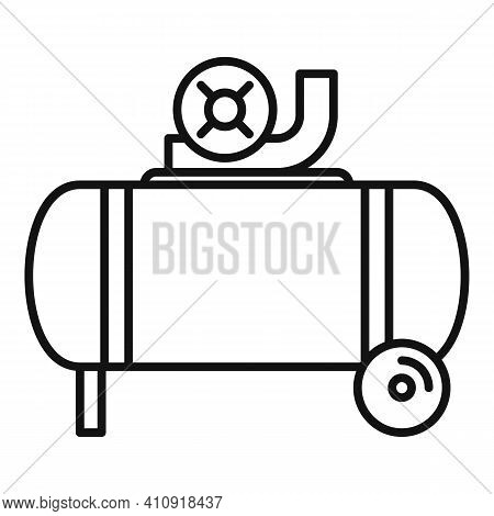 Industrial Air Compressor Icon. Outline Industrial Air Compressor Vector Icon For Web Design Isolate