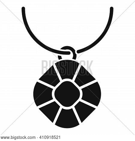 Jeweler Necklace Icon. Simple Illustration Of Jeweler Necklace Vector Icon For Web Design Isolated O