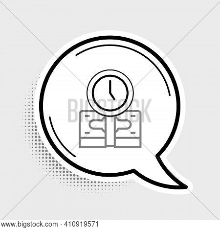 Line Time Is Money Icon Isolated On Grey Background. Money Is Time. Effective Time Management. Conve