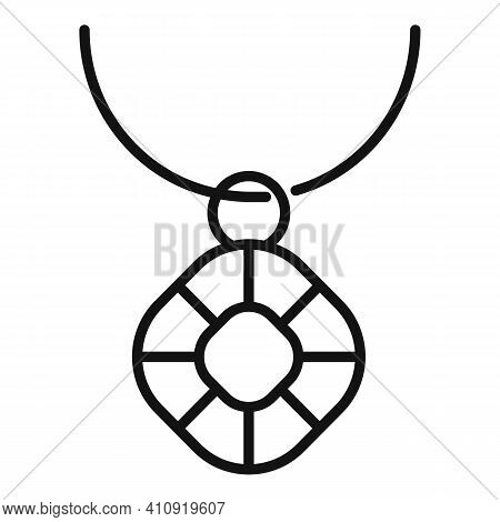 Jeweler Necklace Icon. Outline Jeweler Necklace Vector Icon For Web Design Isolated On White Backgro