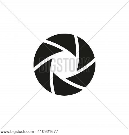 Vector Illustration Of Camera Shutter, Isolated On White Background.