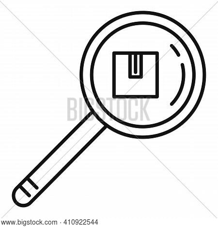 Track Parcel Number Icon. Outline Track Parcel Number Vector Icon For Web Design Isolated On White B