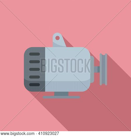 Car Generator Icon. Flat Illustration Of Car Generator Vector Icon For Web Design