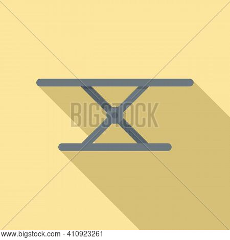 Car Service Lift Icon. Flat Illustration Of Car Service Lift Vector Icon For Web Design