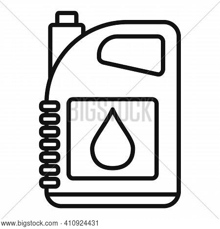 Oil Canister Icon. Outline Oil Canister Vector Icon For Web Design Isolated On White Background