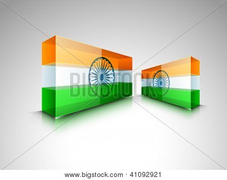 Presentation of Indian National Flag. EPS 10.