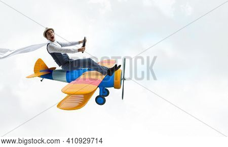 Happy travelling on toy vehicle