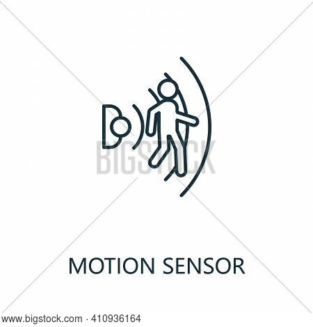 Motion Sensor Outline Icon. Thin Line Style From Smart Home Icons Collection. Pixel Perfect Simple E
