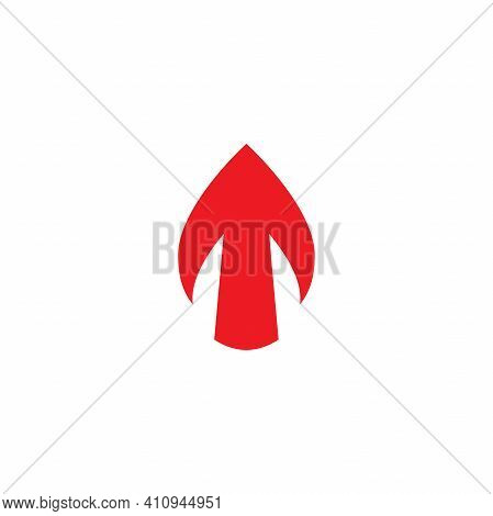 Red Arrow Up Icon. Forward, Growth, Rush Sign. Isolated On White. Upload Icon. Upgrade Sign. Speed U