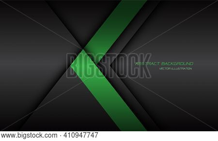 Abstract Green Arrow Direction Dark Grey Shadow Line With Text On Blank Space Design Modern Futurist