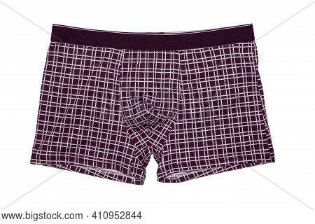 Men\'s Boxer Shorts On A White Background.men\'s Boxers Swimming Trunks, Isolated On A White Backgro