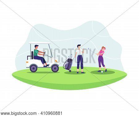 Golf Sport Illustration Concept