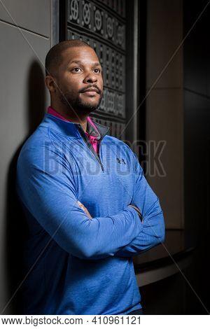 Editorial Portrait Of Black African Entrepreneur David Roberts