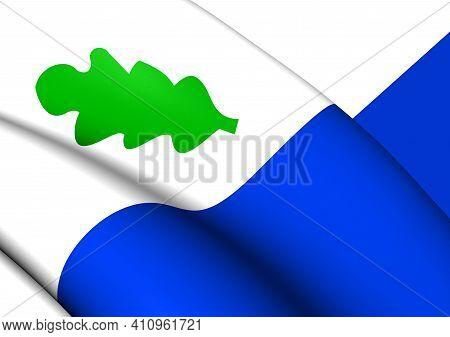 3d Flag Of Oirschot (north Brabant), Netherlands. 3d Illustration.