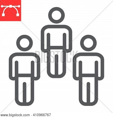 Herd Immunity Line Icon, Social And Community, People Vector Icon, Vector Graphics, Editable Stroke