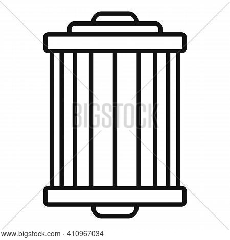 Car Air Filter Icon. Outline Car Air Filter Vector Icon For Web Design Isolated On White Background