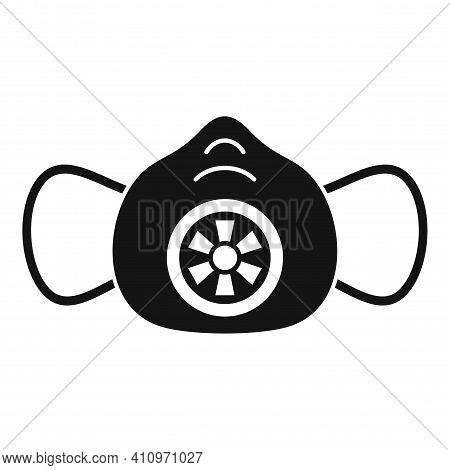 Breathe Medical Mask Icon. Simple Illustration Of Breathe Medical Mask Vector Icon For Web Design Is