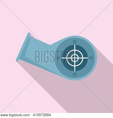 Ventilation Pipe Icon. Flat Illustration Of Ventilation Pipe Vector Icon For Web Design