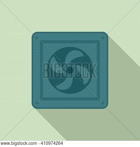 Fan Wall Icon. Flat Illustration Of Fan Wall Vector Icon For Web Design