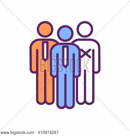 Employee Turnover Rgb Color Icon. Dismissal From Work. Job Loss. Leaving Organization. Employee Depa