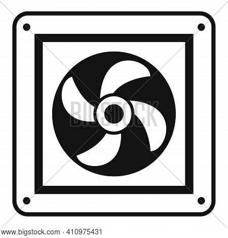 Fan Wall Icon. Simple Illustration Of Fan Wall Vector Icon For Web Design Isolated On White Backgrou