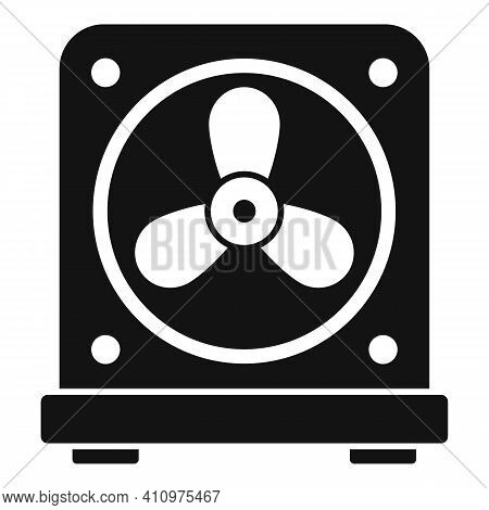 Thermostat Fan Icon. Simple Illustration Of Thermostat Fan Vector Icon For Web Design Isolated On Wh