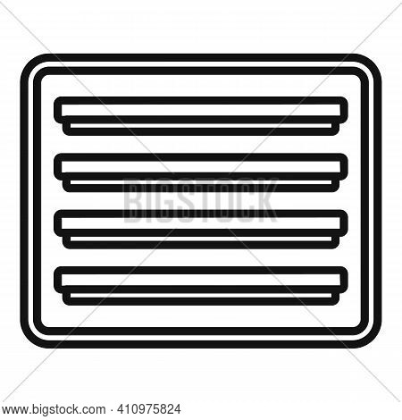 Ventilation Frame Icon. Outline Ventilation Frame Vector Icon For Web Design Isolated On White Backg
