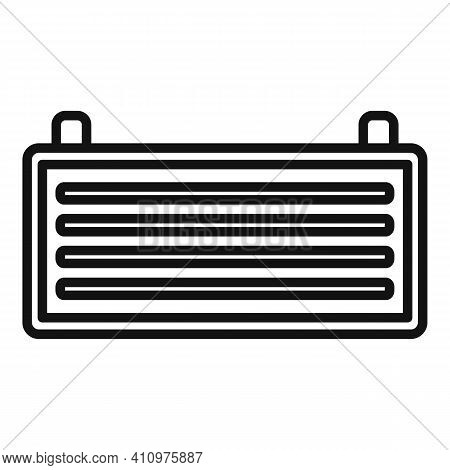 Cool Ventilation Icon. Outline Cool Ventilation Vector Icon For Web Design Isolated On White Backgro