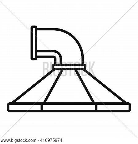 Kitchen Ventilation Icon. Outline Kitchen Ventilation Vector Icon For Web Design Isolated On White B