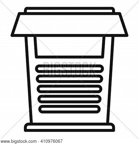 House Ventilation Icon. Outline House Ventilation Vector Icon For Web Design Isolated On White Backg