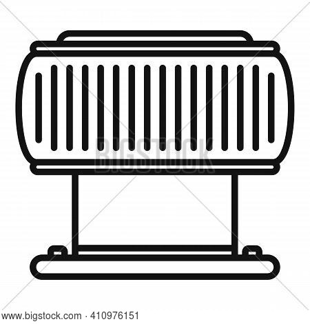 Ventilation Filter Icon. Outline Ventilation Filter Vector Icon For Web Design Isolated On White Bac