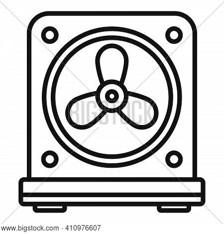 Thermostat Fan Icon. Outline Thermostat Fan Vector Icon For Web Design Isolated On White Background