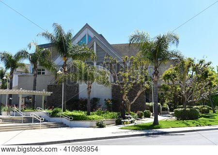 IRVINE, CALIFORNIA - 16 APRIL 2020: Shepherds Grove Presbyterian Church, lead by Senior Pastor Bobby Schuller.