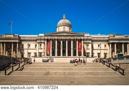 June 29, 2018: National Gallery, An Art Museum Founded In 1824 And Located In Trafalgar Square In Th