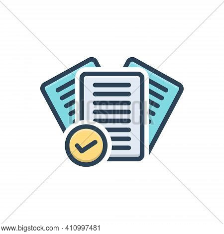 Color Illustration Icon For Right Correct Mark Check Tick Agreement Approved Checklist Yes True