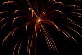 a single burst of fireworks display during new year poster