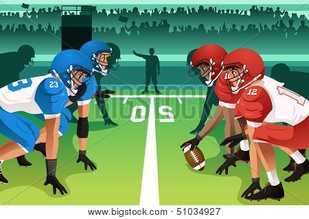 Football Players In A Match
