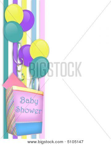 Baby Shower Invitation Border