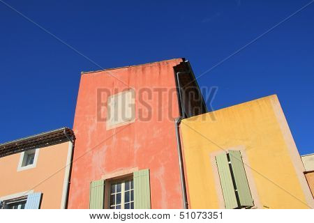 Colored Facades In Roussillion