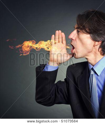 Men suffering from heartburn.