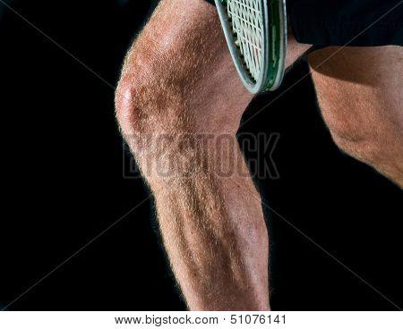 tennis player's legs