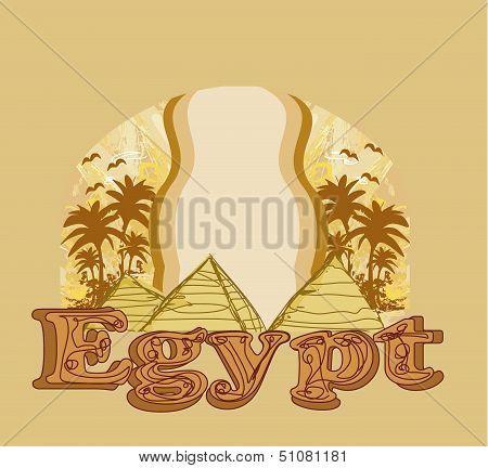 Frame With Pyramids Giza
